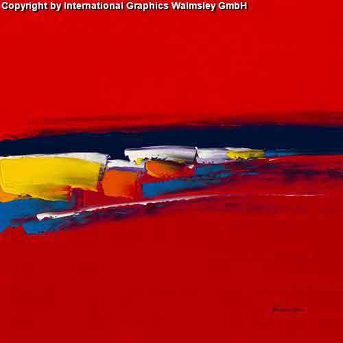 סימפוניהעיצוב דקורטיבי  פינת אוכל  אורינטלי מזרח רחוק אדום   ציור