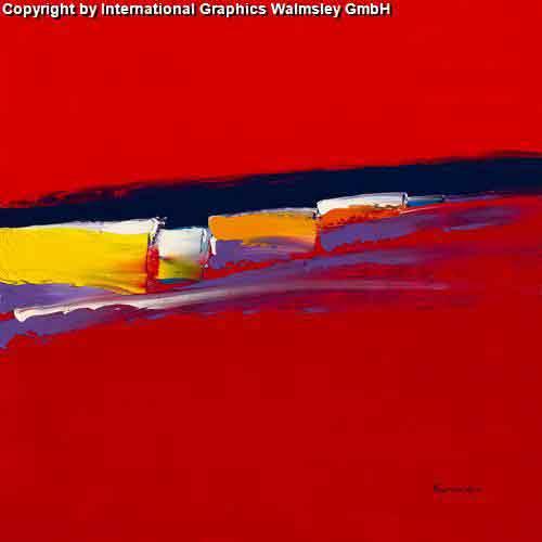 סימפוניה באדוםעיצוב דקורטיבי  פינת אוכל  אורינטלי מזרח רחוק אדום   ציור