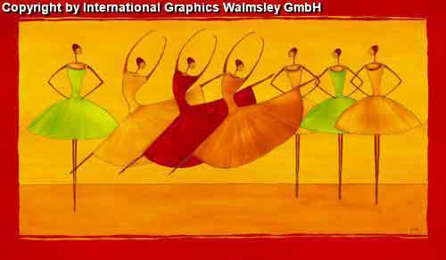 רקדניות 3אדום כתום אתני אונה זוגות  חדר שינה חם מחול הופעה ריקוד בלט דמויות דמות רקדנית קלאסי קלסית