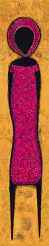דמות מאורכת 5מזרחי אורינטלי חם נאיבי חום כתום דקורטיבי מעוצב עיצוב דמות דמויות