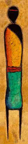 דמות מאורכת 7 מזרחי אורינטלי חם נאיבי חום כתום דקורטיבי מעוצב עיצוב דמות דמויות