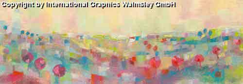 נוףציור פרחים  אבסטרקט טבע פסטורלי