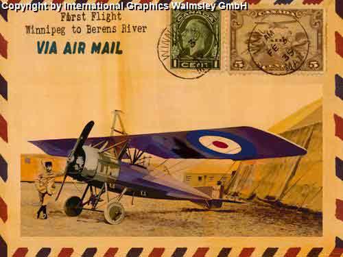 מטוסאווירון פרסומת מכתב בולים