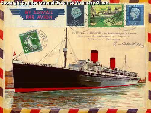ספינהסירה אוניה פרסומת מכתב בולים