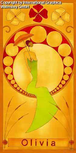 אוליביהמזרחי אורינטלי חם נאיבי חום כתום דקורטיבי מעוצב עיצוב דמות אונה דמויות