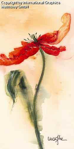 טוליפ 2פרח אדום אבסטרקט דומם קישוט עיצוב פינת אוכל אוירה