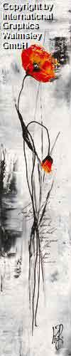 גבעול ופרחאדום שחור לבן גבעול פרח ארוך עיצוב פינת אוכל סלון חדר שינה