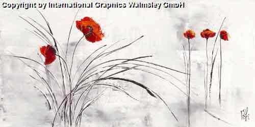 אדום שחור לבן גבעול פרח ארוך עיצוב פינת אוכל סלון חדר שינה