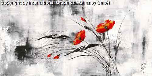 אדום ושחור 3אדום שחור לבן גבעול פרח ארוך עיצוב פינת אוכל סלון חדר שינה