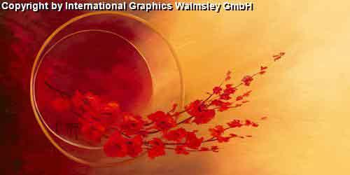 ענף אדוםעיצוב דקורטיבי  פינת אוכל  אורינטלי מזרח רחוק אבסטרקט