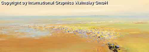 פרחים וורודיםחום חם כתום נוף אופק בתים מזרחי ציור אבסטרקט עיצוב