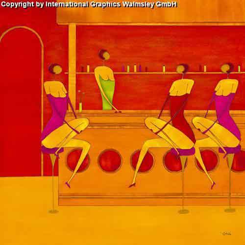 ארט קפהמזרחי אורינטלי חם נאיבי חום כתום דקורטיבי מעוצב עיצוב דמות אונה דמויות