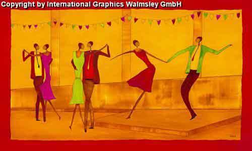 אדום כתום אתני אונה זוגות  חדר שינה חם מחול הופעה ריקוד בלט דמויות דמות רקדנית קלאסי קלסית