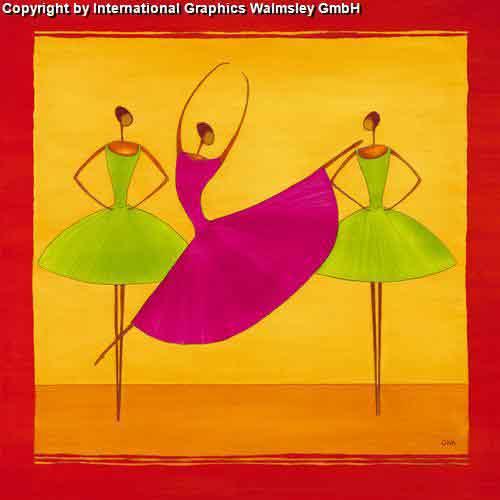 רקדניות 2אדום כתום אתני אונהורוד ירוק חם מחול הופעה ריקוד בלט דמויות דמות רקדנית קלאסי קלסית