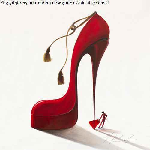כובש עם תשוקה גברת נעל אדומה אישה זוג  רומנטיקה תשוקה דמויות דקורציה עיצוב