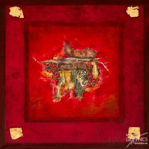 נשיקה אדומהאבסטרקט קולאז אדום שחור כהה אהבה מודרני