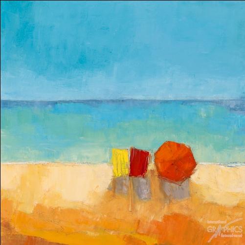 שמשיות 1ים , חופש, צבעוני, שמשיות, אבסטרקט, ציור, חוף