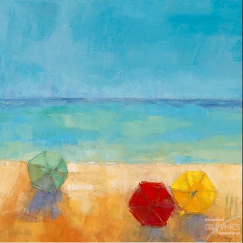 שמשיות 2ים , חופש, צבעוני, שמשיות, אבסטרקט, ציור, חוף