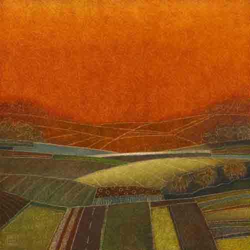 בדרך אל הכפר 1שמש ענן ירוק יזרעאל טוסקנה גליל זריחת החמה מרבד כתום חם