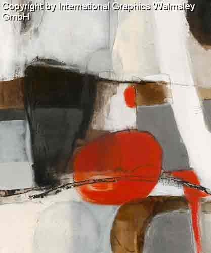 צורות וצבעים 1אדום שחור לבן עיגול מודרני דקורטיבי עיצוב קווים רצף מחולק חלק