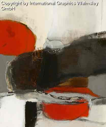 צורות וצבעים 3אדום שחור לבן עיגול מודרני דקורטיבי עיצוב קווים רצף מחולק חלק
