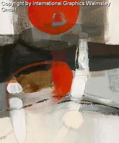 צורות וצבעים 4אדום שחור לבן עיגול מודרני דקורטיבי עיצוב קווים רצף מחולק חלק