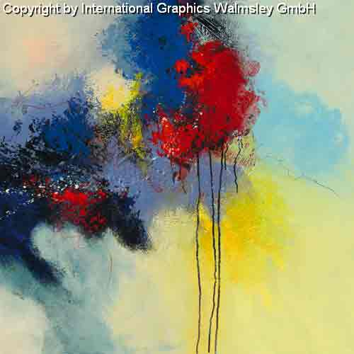 מעבר לאופק 2זריקת צבע סלון מודרני דקורטיבי עיצוב כחול צהוב אדום