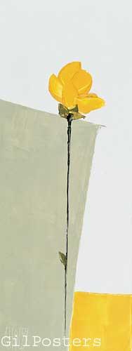 פרח צהוברומנטי עיצוב  מודרני מינמליסטי