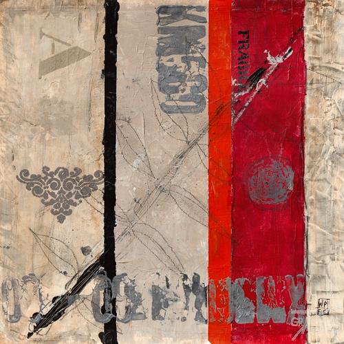 שביר 3הדפס צבעים שחור לבן אדום טיפוגרפיה עיצוב מודרני