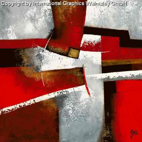 מעברים 1זריקת צבע סלון מודרני דקורטיבי עיצוב גרפי שחור לבן אדום