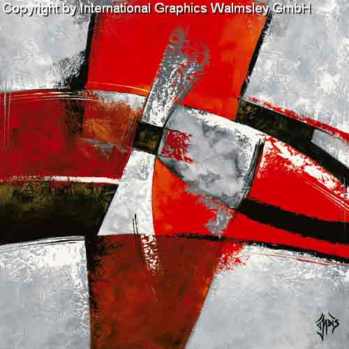 מעברים 2זריקת צבע סלון מודרני דקורטיבי עיצוב גרפי שחור לבן אדום