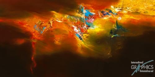 ריקוד אש עולמילהבה אבסטרקט כהה צבעים כתמים אש תנועה מודרני