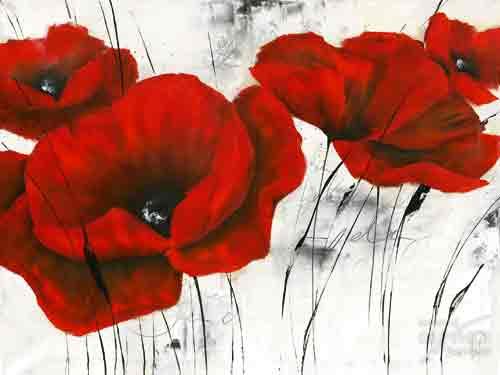 ריקוד באדום 3 ורד רוז אדום כהה פרח דקורטיבי זר עיצוב הבית מטבח סלון