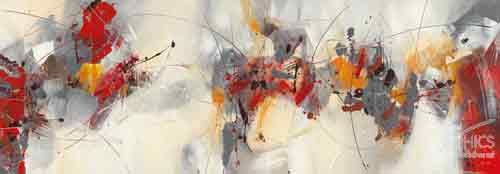 ריקוד כלי ההקשהאבסטרקט לבן אדום שחור תמונת רוחב טיפטופים צבעוני