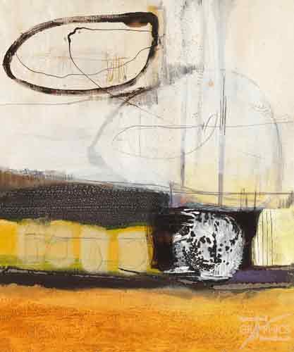 אבסטרקט בצהוב לבן 1אבסטרקט צהוב לבן שחור צורות כתמים