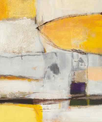 אבסטרקט בצהוב לבן 3אבסטרקט צהוב שחור לבן כתמים צורות