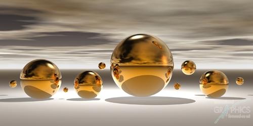 קעריות מוזהבות 1כדורים, זהב, מודרני, זהובים, אבסטרקט, אפור , לבן, שחור, צילום, גולות