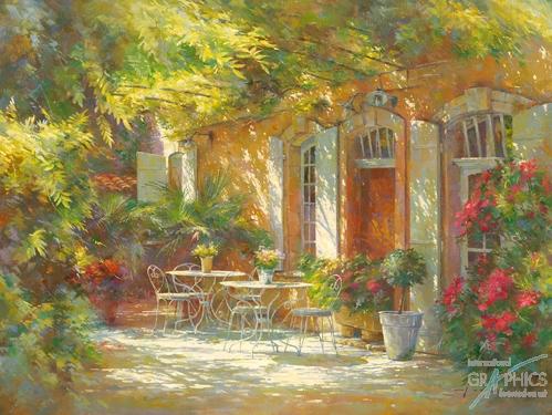 חצר ישנהפרובאנס, רומנטי, נוף, חצר, וינטג', אביב, פרחים, צמחיה, אביבי, כיסאות , שולחן, כדים, חופש, מנוחה