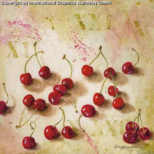 דובדבניםעיצוב מטבח פינת אוכל פירות זוג אדום