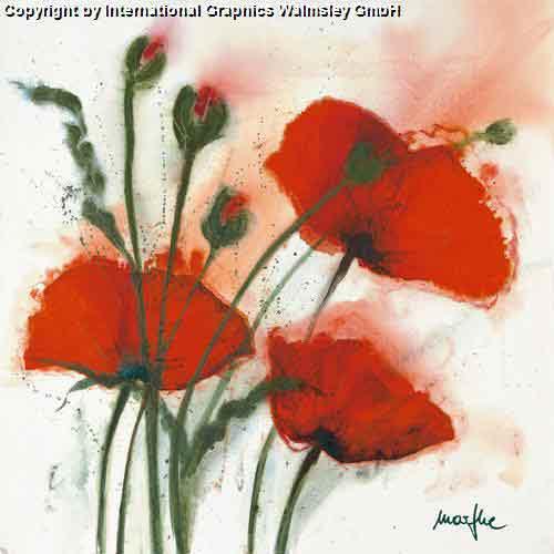 פריחה אדומה ברוחעיצוב דקורציה פרחים גדולים אדומים אש קישוט