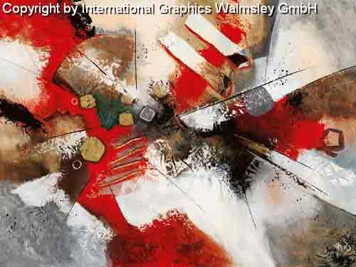 מעברים 3זריקת צבע סלון מודרני דקורטיבי עיצוב גרפי שחור לבן אדום