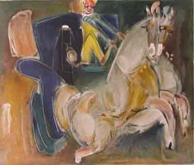 נחום גוטמן - כירכרה קטנה - ליתוגרפיהאומן ציור נאיבי ארץ ישראלית סוס עגלה נמל יפו    בתים תל אביב ליטוגרפיה