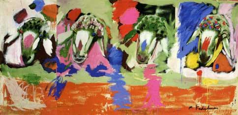 קדישמן - ארבע כבשיםאמנות יהודית ישראלית מוזיאון תל אביב לאמנות