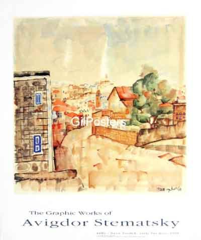 אביגדור סטימצקי -נווה צדק אמנות יהודית ישראלית מוזיאון תל אביב לאמנות בתים נוף