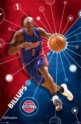 דטרויט פיסטונסנ.ב.איי משחק אליפות כדורסל ליגה ארצות הברית הטבעה ריחוף