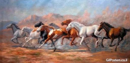 סוסים 1   - תמונת שמן על בדסוסים 1   - תמונת שמן על בד