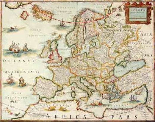 מפת אירופה עתיקה - מוכנה לתליה על קנבס מתוחמפות ישנות עתיקות מפות ישנות  מפת עולם עתיקה  מפות ישנות