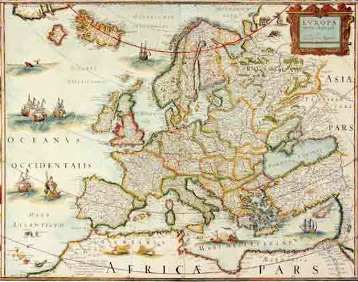 מפת עולם עתיקה - מוכנה לתליה על קנבס מתוחמפות ישנות עתיקות מפות ישנות  מפת עולם עתיקה