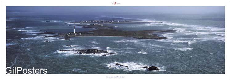 בגובה פני היםצרפת  ים אי מגדלור נקודה כחול איים שלווה סערה