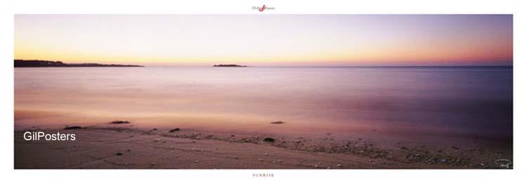 שחר שמש דמדומים כתום סגול רומנטי מים